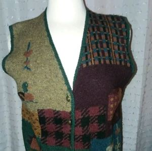 Vintage Woolrich Small Vest Women's 100% Wool Duck